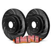 For Chevy Silverado 2500 11-18 Brake Kit Ebc Stage 8 Super Truck Dimpled And