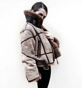 Lamb Full Shearling Iconic Aviator Jacket In Brown - Timeless Piece