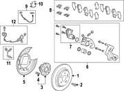 Genuine Acura 43022-tz3-a51 | Pad Set Rr. Part 8 On Picture