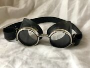 Vintage Hurricane Etanche Motorcycle Goggles Aviator Antique Rare From France