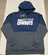 Nike Dallas Cowboys Therma Lock Up Pullover Hoodie Jacket Menandrsquos Size Large