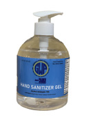 Hand Sanitizer Gel, Alcohol Antiseptic 70, 16oz Pump Bottle,3 Pack, Made In Usa