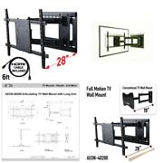 Full Motion Tv Wall Mount With Included Hdmi Cable Fits 37 In. - 70 In. Tv And