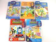 Leap Frog Leappad Quantum 5 Books Cartridges Reading Math Age 4-7 And 5-8