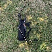 Lot Of 2 Bows - Woarchery Combat Archery 25 And 50 Lbs Recurve Bow 54andrdquo W/ Quiver