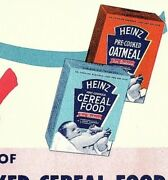 1950s Heinz Store Coupon Grocery 1 Gift Package Oatmeal Cereal Food Free Expired