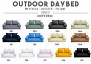 Style1 Outdoor Daybed Bolster Pillow Cushion Mattress Fitted Sheet Complete Set