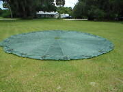 T-10 Reserve Military Parachute Canopy With About 2 Feet Of Lines Remaining