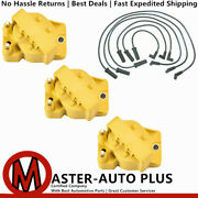 3144 Wire + Dr39 Yellow Ignition Coil For 96-08 Buick Lucerne Cxl Sedan V6 3.8l