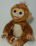 2012 Furreal Friends Cuddles My Giggly Monkey Interactive Play Toy Hasbro Works