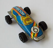 Vintage Russian Misha Bear-olympic Game Moscow 1980 Painted Car 6 Tin Toy 11b