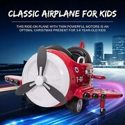 12v Airplane Style Electric Kids Ride On Car Toy For Aged 3-6 2 Remote Control