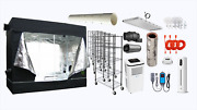 Grow Room Kit Package 120l 6500k Fluorescent Light, Tent Humidifier, Exhaust, Ac