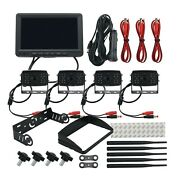 Wireless Backup Camera W/monitor 7 Front/ Side/rear View Backup System 4camera