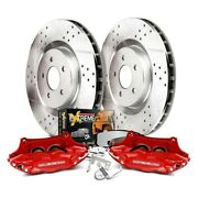 Big Brake Kit Power Stop 1-click Extreme Z36 Truck And Tow Drilled And Slotted Front