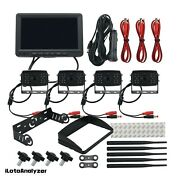 Wireless Backup Camera With Monitor 7 Front/ Side/rear View Backup System 4