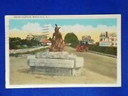 1937 Vintage Post Card Indian Fountain, Watch Hill. R.i.