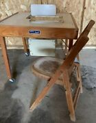 Vintage Mid Century High Chair Retro Wooden Folding Table Babee Tenda And Chair