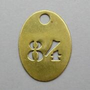 Vintage Brass Number 84 French Medal Charm Birthday Industry Industrial.