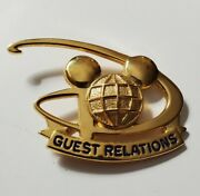 Disney Guest Relations Mickey Mouse Icon Globe Cast Costume Pin Vhtf Rare