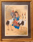Caroline Young Giclee On Paper Hand Signed And Numbered Custom Framed Coa