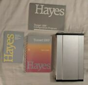 Working Hayes Transet 1000 Manuals Power Supply Cords Rare Vintage Htf Collector