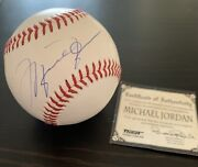 Michael Jordan Signed Baseball W/ Certificate Of Authenticity. Discounted