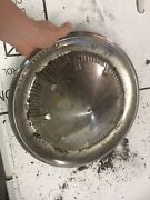 1960 Ford Galaxie Sunliner Ragtop 14andrdquo Rare Gold Hubcap Thunderbird V-8 Vintage