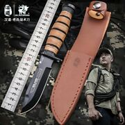 Edc Tactical Straight Knife Hunting Survival Marine Corps Combat Pocket Knives