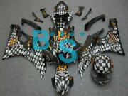 Abs Fairing Airbrushed Skull Bodywork Plastic W1 Fit For Yzf-r6 2006-2007 E01