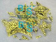Yellow Airbrushed Injection Fairing Bodywork Fit Honda Cbr600rr 2009-2012 62 Yy