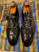 New John Lobb Bespoke Black Patent Leather Shoes +shoe Trees + Dust Bags + Box