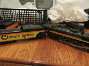 Lionel Trains- Chessie System- Steam Locomotive And Electric Tender- New