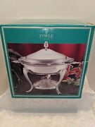 Vintage Towle Silverplate 2qt. Chafing Dish With Lid And Burner