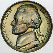 1970-s U.s 5 Cents Jefferson Nickel Proof Amazing Appeal Color Toned Choice Mr