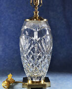House Of Waterford Dublin Doors Cut Crystal 27 Table Lamp- Signed And Numbered