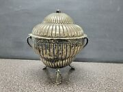 Rare 1900and039s Sterling Tureen By Mexican Silversmith Apolonio Guevara 43.6 Oz