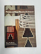 Navajo And Hopi Weaving Techniques Mary Pendleton Signed Book