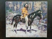 Horse Feathers Textured Canvas By Howard Terpning Mint Condition Never Framed