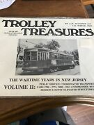 Trolley Treasures Wartime Years In New Jersey Vol 2 Transit Sealed Train Book