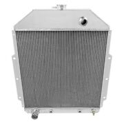 For Ford 1/2 Ton Pickup 42-47 All-aluminum Downflow Engine Coolant Radiator