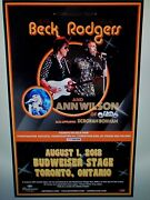 Jeff Beck And Paul Rodgers Toronto Concert Poster
