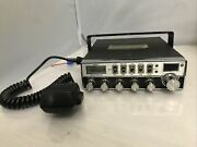 Vintage Sears Roadtalker 40 Channel Cb With Microphone And Hanger Bracket Untested