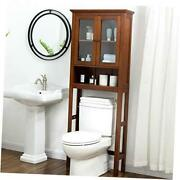 Over-the-toilet Space Saver Storage Bathroom Cabinet With Double Glass, 68