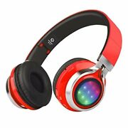 Wt-07 Folding Wireless Bluetooth Stereo Headphones Adjustable Headsets Red