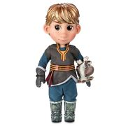 Disney Frozen 2 Kristoff Animator Collection Doll 39cm Tall And Sven Soft Toy