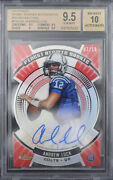 Bgs 9.5 - 2012 Finest Andrew Luck Rc Rookie /10 Red Atomic Refractor Auto 10
