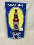 Nos Pabst Blue Ribbon Beer Bottle Sign Pbr The Quality Always Comes Through