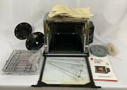 Ronco Compact Showtime Rotisserie And Bbq St3000 Series Black With Accessories
