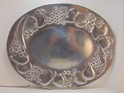 Wilton . Mt Joy Pa , Oval Tray Serving Platter Fruit Pewter Handcrafted 16x20